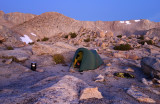 September 2019 Sierra - Lamarck Col camp in the evening