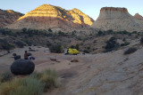 September 2019 Escalante area -Boulder Creek camp in the morning