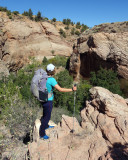 Leaving upper boulder creek at steve allens midpoint cattle trail exit