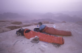 2000 Jordan - Bivvy on summit of Jebel Rum - Brian and Gavin Rees