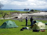 2005 Eigg Camp near the ferry point