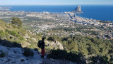 2020 From Olta crag down to Calpe and the Penon rock