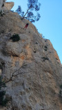 2020 Cabezon d'Or- abseiling from 'Via Gene' climb