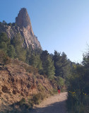 2020 Cabezon d'Or-  Returning from 'Via Gene' climb on the right hand skyline