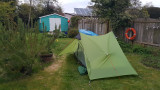 April- 'Wild' camping in the garden