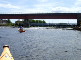 May- Kayaking into River Ness as far as we culd go to the first weir