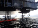 June - Cromarty beneath a massive rig