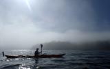 August 20  Leaving Shieldaig in mist and sun for Diabeg across Loch Torridon