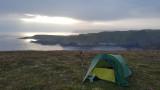 August 20 North coast hike - Faint morning sun after mist