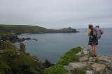 Sep20 South of St Ives the trail is quite bouldery but with great views