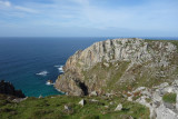 Sep20 Passing a favourite location of ours- Bosigran climbing cliffs!