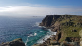 Sep20 Looking back to Land's End and Longships lighthouse