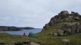 Sep20 Camp at a headland near Carn Boel