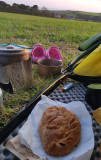 Sep20 Pasties at Porthleven campsite- hoorah!