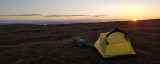 Oct 20 Camp on Quiraing in the north of Skye