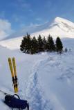 Jan 21 Ben Wyvis, masses of snow