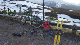 March 21 Biking up to Coire Cas car park (as road is closed at Glenmore Hayfield)