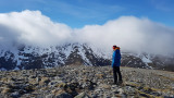 March 21 Sgurr na Lapiach from Carn na Gobhar in spring snowy conditions