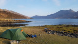 April 21 Loch Hourn camp in the morning