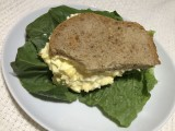 Egg-Salad Sandwich made from Homemade Bread