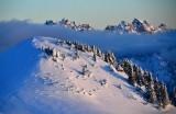 Evening light on Lennox Mountain, Chimney Rock, Overcoat Peak, Lemah Mountain, Cascade Mountains 567