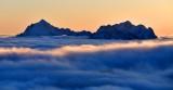 Mt Washington and Mt Pershing at sunset, Olympics Mountain, Washington 511