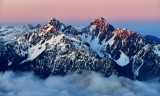 Mount Constance at sunset, Olympic Mountains, Washington 713a