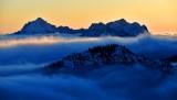 Mt Washington, Mt Jefferson  and Mt Pershing at sunset, Olympic Mountains, Washington 521