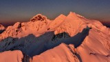 Three Fingers Mountain and Lookout, Queest-alb Glacier at sunset, Cascade Mountains, Washington 415