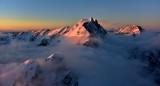 Liberty Mountain, Three Fingers Mtn, Whitehorse Mountain, Mt Baker, Mt Shuksan at Sunset, Cascade Mountains, Washington 380