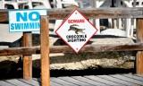 Beware Crocodile Sighting, Lorelei Restaurant & Cabana Bar, Islamorada, Florida Keys, Florida 849