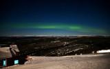 Northern Light on Mt Aurora Skiland with Brooks Range and Stars, Fairbanks, Alaska 541