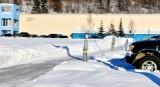 Electrical plugs for car oil heaters , University of Fairbanks, Alaska 089