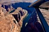 Horseshoe Bend, Colorado River, from Kodiak Quest airplane, Page, Arizona 120