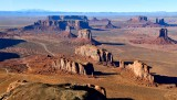 Monument Valley, Navajo Nation Tribal Park, John Ford Point, Camel Butte, The Thumb, Elephant Butte, Merrick Butte, Mittens