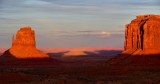 East Mitten Butte and Merrick Butte at Sunset, Monument Valley, Navajo Tribal Park, Navajo Nation, Arizona 735