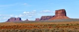 Brigham Tomb, King-on-his-Throne, Stagecoach, Sentinel Mesa, Mitchell Butte in Monument Valley, Navajo Tribal Park, Arizona 270