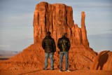 Tourists and Mitten Butte at sunset, Monument Valley, Navajo Tribal Park, Navajo Nation, Arizona 668