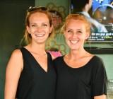 Megan and Kelsey, owners of Fin & Juice Bar and Lounge, Tavernier, Florida Keys, Florida