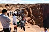 Tourists at Horseshoe Bend, Glen Canyon National Recreation Area, Page Arizona 098