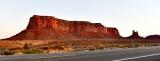 Eagle Mesa and Setting Hen at sunrise, Monuemnt Pass, Monument Valley, Navajo Nation, Utah 103