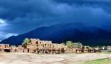 Taos Pueblo or Pueblo de Taos, Hlauuma (North House), Pueblo Peak, Taos Mountain, New Mexico 410a