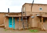 Taos Pueblo or Pueblo de Taos, North House,and ladder, New Mexico 049