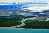 Cape Sitkagi, Fountain Stream, Moraine on Malaspina Glacier, Wrangell-Saint Elias National Park, Gulf of Alaska  902a