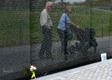 Older Generation, Forgotten Generation, New Generation at Vietnam War Memorial, Washington District of Columbia 843
