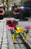 Flowers at Vietnam War Memorial, Washington District of Columbiia 860