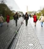 Vietnam War Memorial and Reflection, Washington Monument, Washington District of Columbia 918