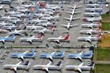 Boeing 737-8 MAX over flow parking, Boeing Field, Seattle, Washington 423