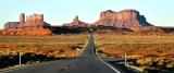 Monument Valley from Forrest Gump's View Point, U S 163 Scenic, Sentinel Mesa, King-on-his-Throne, Stagecoack, Utah 248