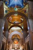 The Incarnation Dome Mosaic, The Redemption Dome Mosaic, The Trinity Dome Mosaic, Descent of the Holy Spirit Dome